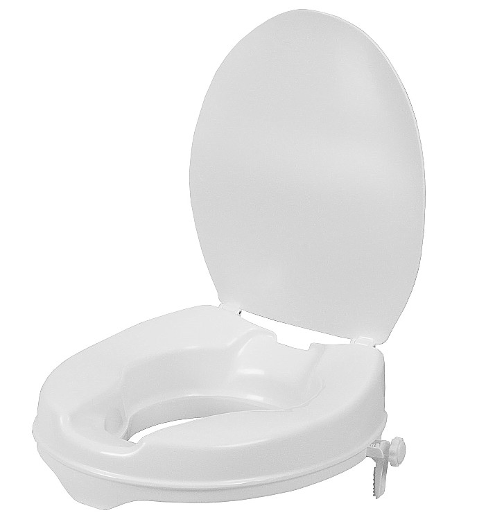 Delta Raised Toilet seat with Lid.   2″, 4″ or 6″