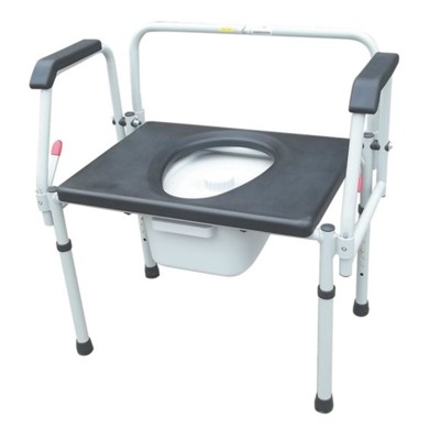Bariatric Drop Arm Commode Over Toilet Aid C314