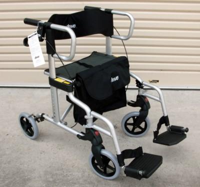 Drive Diamond Deluxe 2 in 1 Rollator & Wheelchair