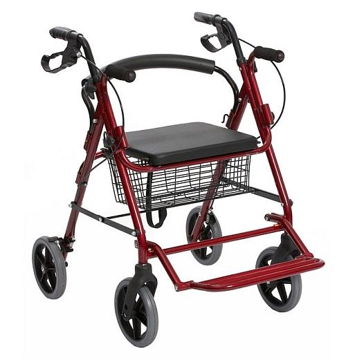 EC805 Duo 2 in 1 Rollator Transit Walker Wheelchair