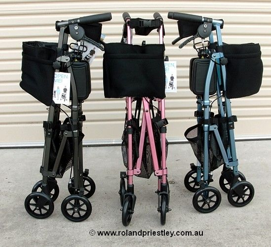 EZ Fold-N-Go Rollator - Stander - 3 attractive colours
