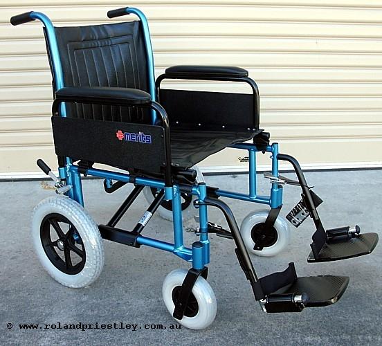 Merits L480-20 Heavy Duty Aluminium Bariatric Transit Wheelchair