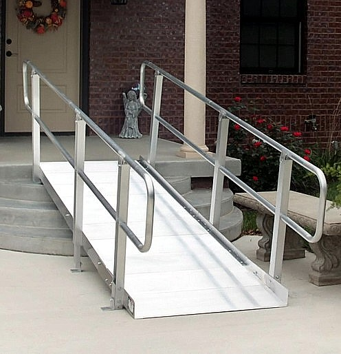 PVI Ontac Wheelchair Ramp with Handrails