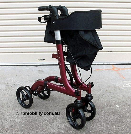 RothCare Cross Fold Rollator Folded