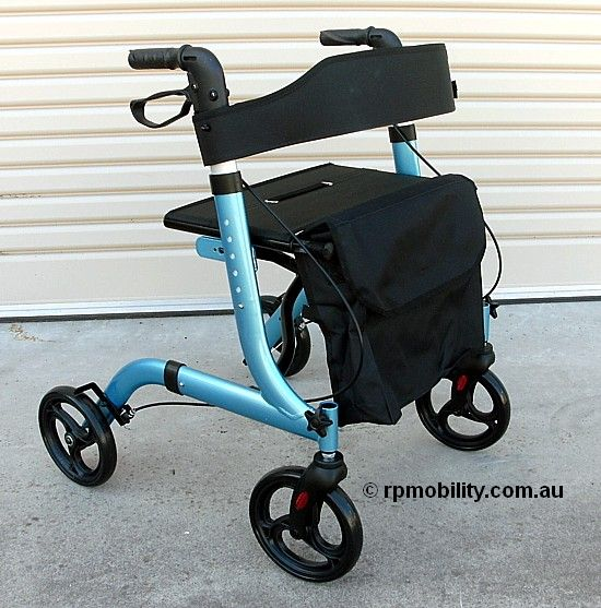 Rothcare Cross Fold Rollator Blue