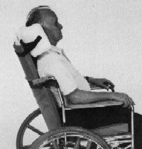 Reclining wheelchair backrest.